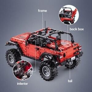 Image 5 - CADA Telecomando Jeep Wrangler Auto Technic Avventuriero Building Blocks Mattoni Set Bambini Ragazzi Giocattoli Educativi Compleanni Regali