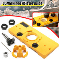35mm Forstner Hinge Hole Saw Jig Drilling Guide Locator Hole Opener Door Cabinets DIY Tool for Woodworking tool drill bits