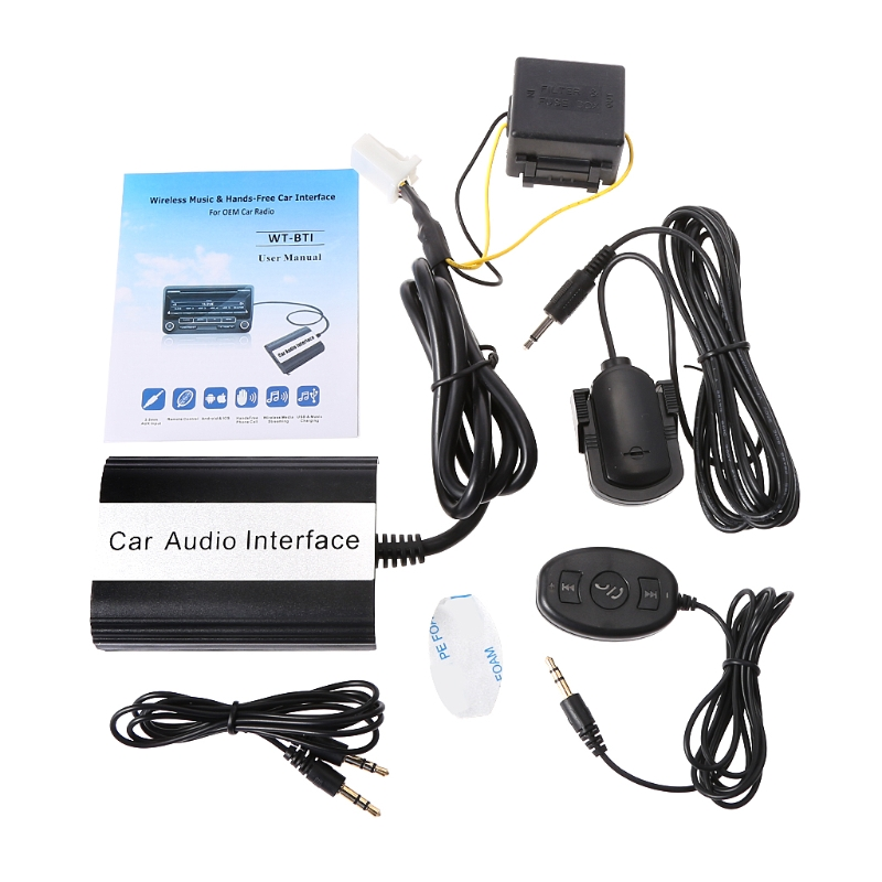 OOTDTY Car Bluetooth Kits MP3 AUX Adapter Interface For Toyota Lexus Scion 2003 2011 12pin Feb20