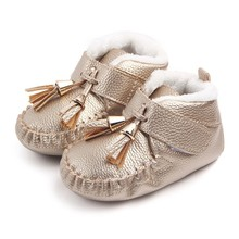 High Quality Winter New Tassel Baby Shoes About 0-1Y Newborn