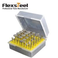 Flexsteel 50pcs 1 8 Shank Diamond Coated Grinder Head Lapidary Glass Burr For Ceramics Tile Glass
