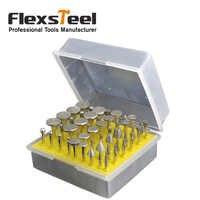 """50 pz 1/8 """"Shank Diamante Rettifica Bit Grinder Testa Lapidario Vetro Burr Drill Bit Set per la Ceramica Piastrelle di Vetro Dremel Rotary Tools"""