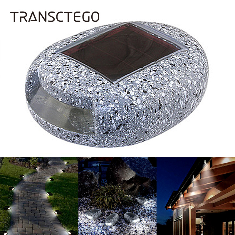 Solar Light For Garden Decoration Outdoor Path Light Pebbles Stones LED Rock Light Waterproof Driveway Walkway Solar Stones Lamp