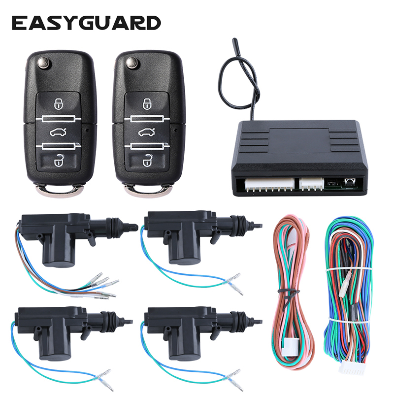 EASYGUARD Quality 4 door remote control central door locking system one master three slaves with custom
