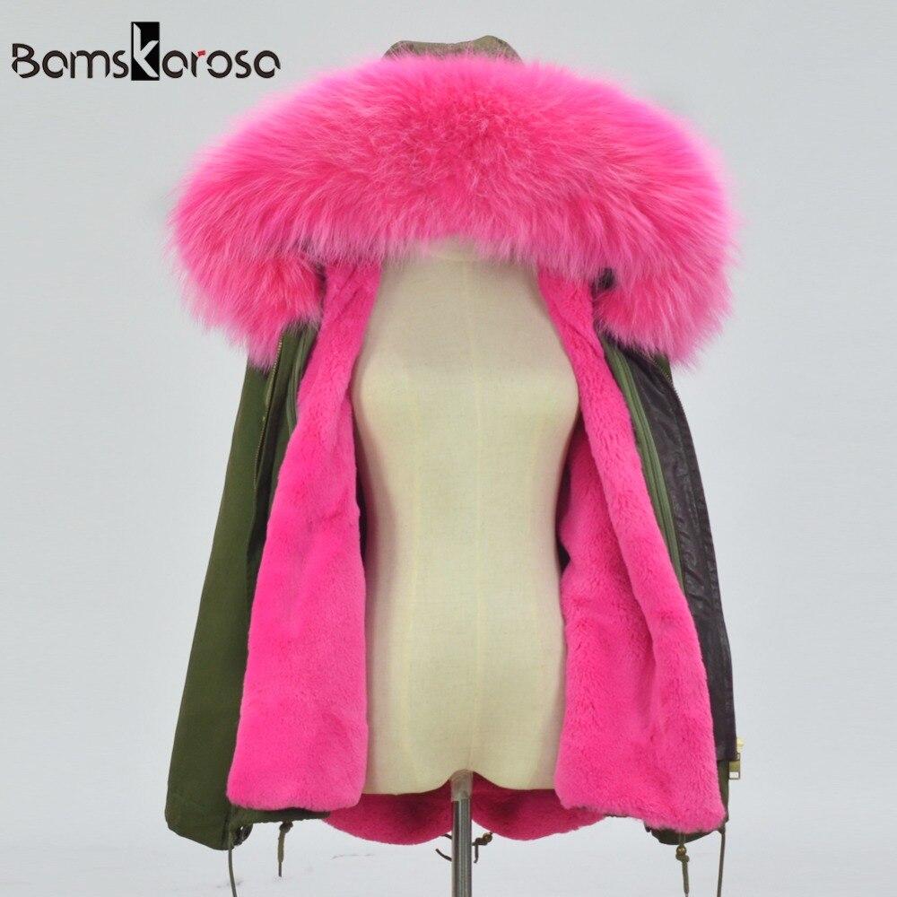 2019 Winter Jacket Women Coat Warm Detachable Lining Big Raccoon Fur Collar Hooded Army Green Brand