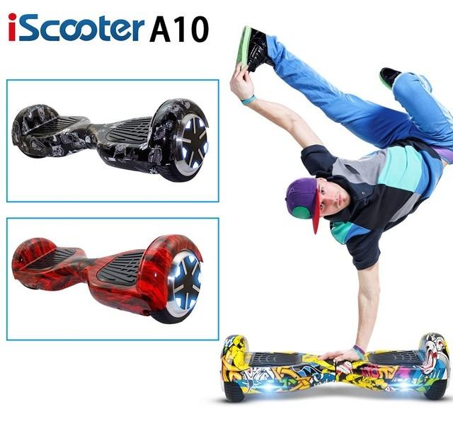 2016 iScooter hoverboard 2 Колеса самостоятельная Баланс Электрический самокат Хип-Хоп Граффити с LED 7 дюймовый Смарт-рулевого колеса Скейтборда