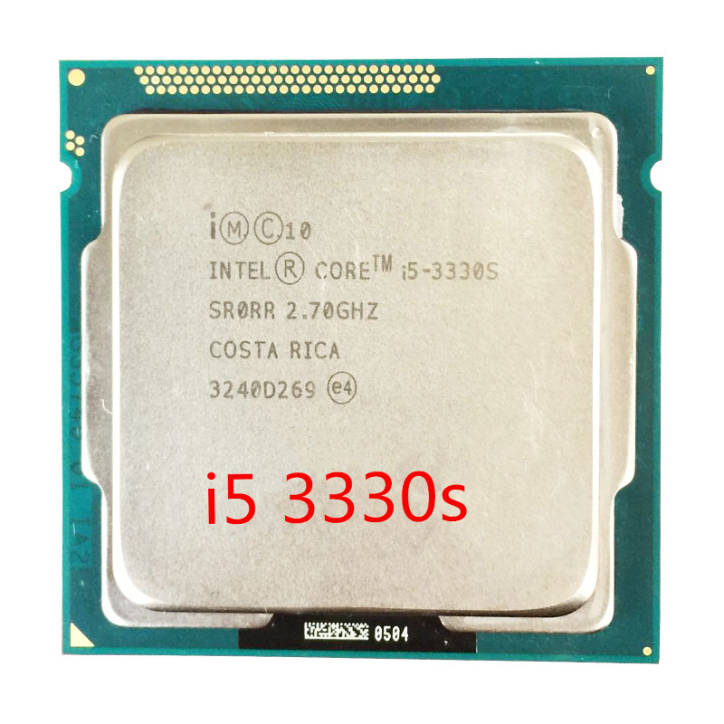 Ntel Core I5 3330S PC Computer Desktop CPU Processor 6M Cache, 2.7GHz LGA1155 Quad-Core