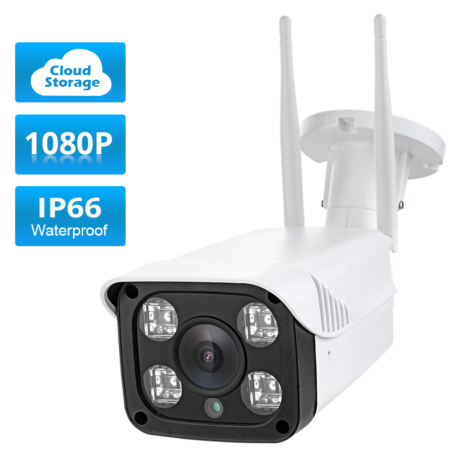 1080P 2.0MP Cloud Storage Outdoor IP66 Waterproof  WIFI IP Camera Night Vision CCTV Security Metal Bracket Home Security  Camera wistino cctv camera metal housing outdoor use waterproof bullet casing for ip camera hot sale white color cover case