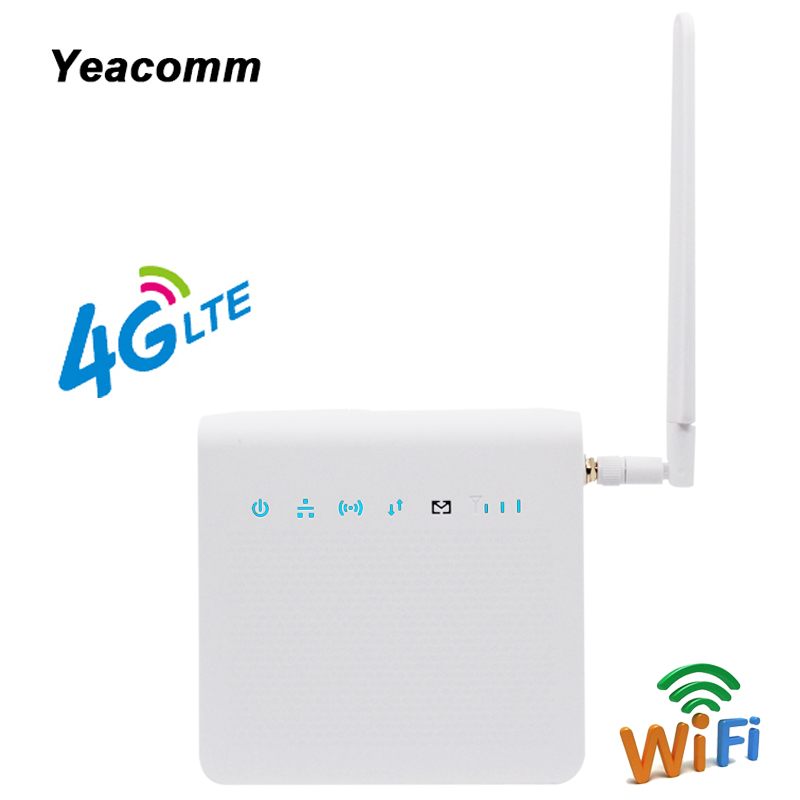 Unlocked 300Mbps Indoor LTE CPE 4G Mobile WIFI Router With Sim Card Slot And LAN Port