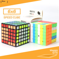 Moyu Weishi GTS 6x6x6 Magic Cube Speed Black/Stickerless Professional Cube Puzzle Magico Cubo 6Layers 6x6 WCA Smooth Toy for kid