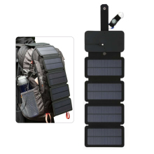 Folding Solar Panel 5V 2A Portable Solar Charger USB Output Camping Hiking Travel Solar Power Phone Charger for Tablet Laptop цена и фото