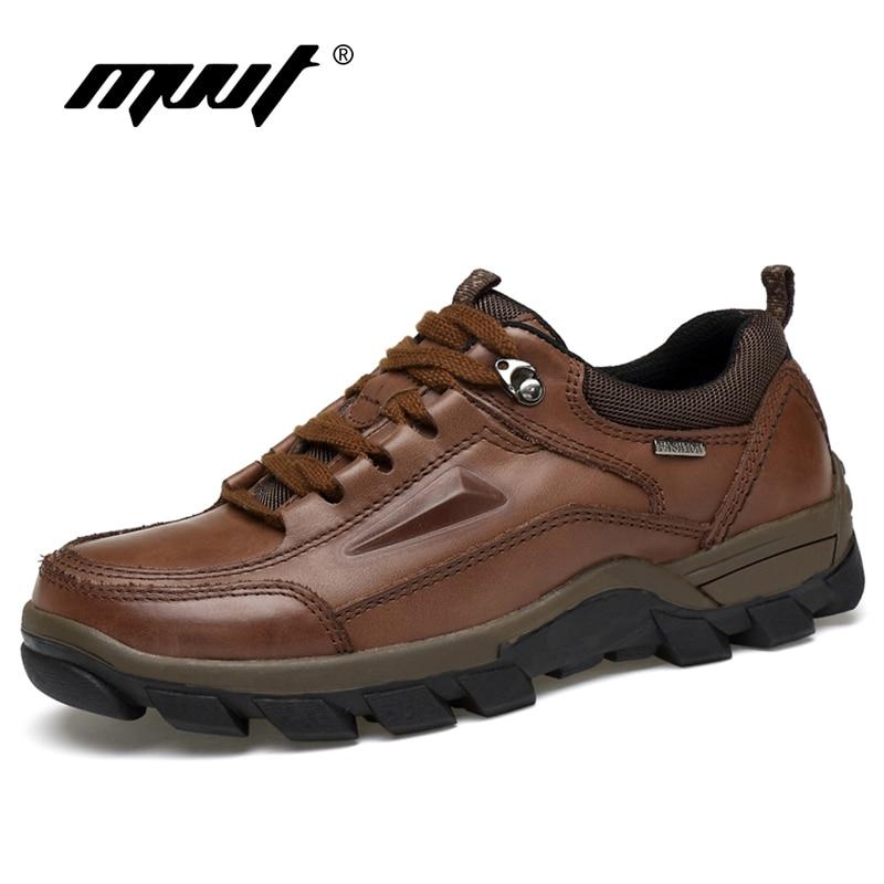 Hademade bottes en cuir véritable hommes bottes de travail Super décontracté bottes de sécurité en cuir toutes les saisons hommes bottines chaussures de plein air
