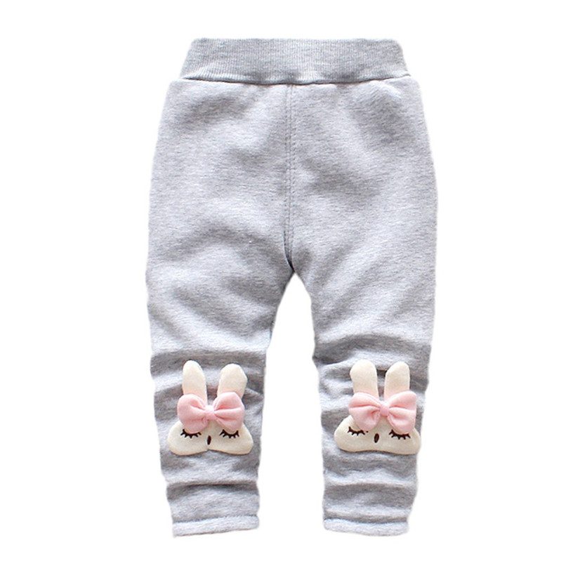 Winter Girls Pants Toddler Infant Baby Girl Cartoon Rabbit Velvet Leggings Trousers Pants Kids Girls Clothes roupa menina S21#F (6)