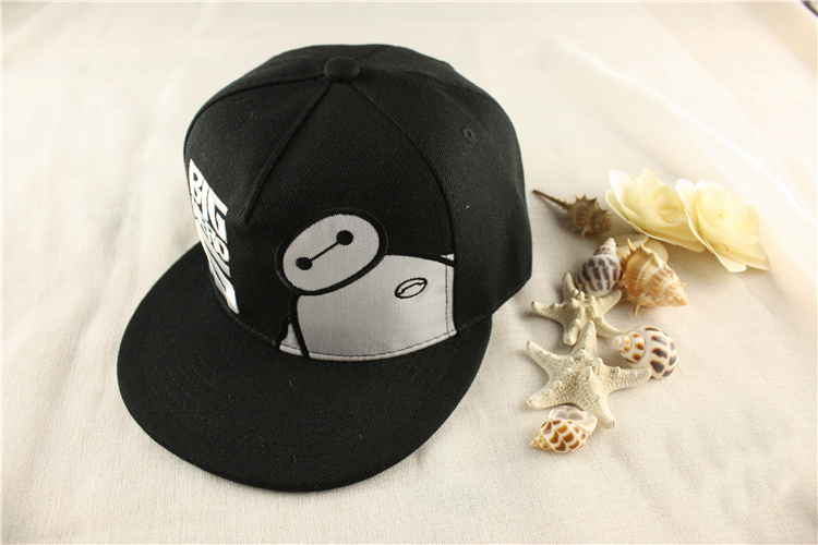 Movie Big Hero 6 Baymax Snapback Hat Cosplay Adjustable Embroidery Summer  Sun Baseball Cap Black Color-in Baseball Caps from Apparel Accessories on  ... bd3a36c93266
