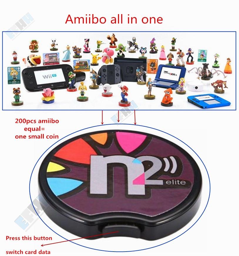 N2 Elite émulateur NFC lecteur tout en 1 Ntag215 pour AMIIBO nouveau 3DS XL/commutateur NS jeu NFC carte Coin Zelda Super Mario super smash