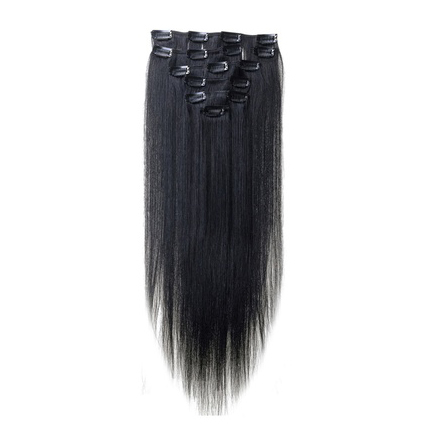 Best Sale Women Human Hair Clip In Hair Extensions 7pcs 70g 22inch Black