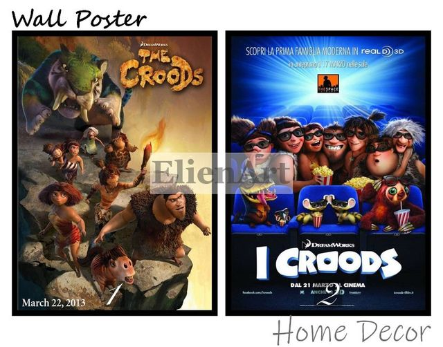 the croods movie home decorative painting white kraft paper poster