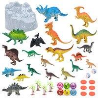 Simulation Jurassic Dinosaur Toys Mini Bucket Plastic Animal Model Set