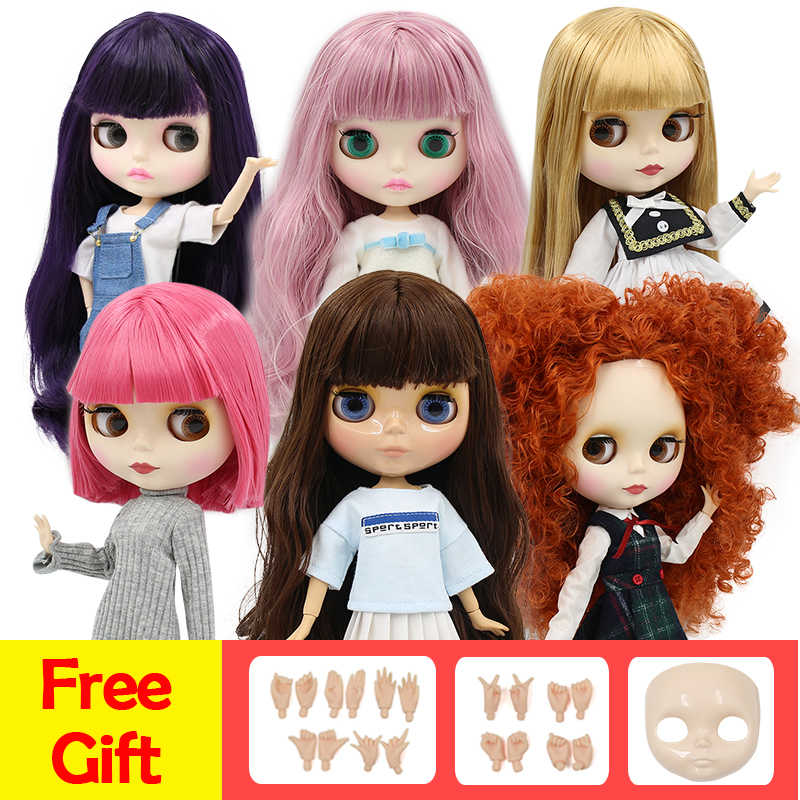 Blyth boneca 1/6 BJD GELADO fábrica oferta especial preço especial, faceplace e mãos AB como presentes