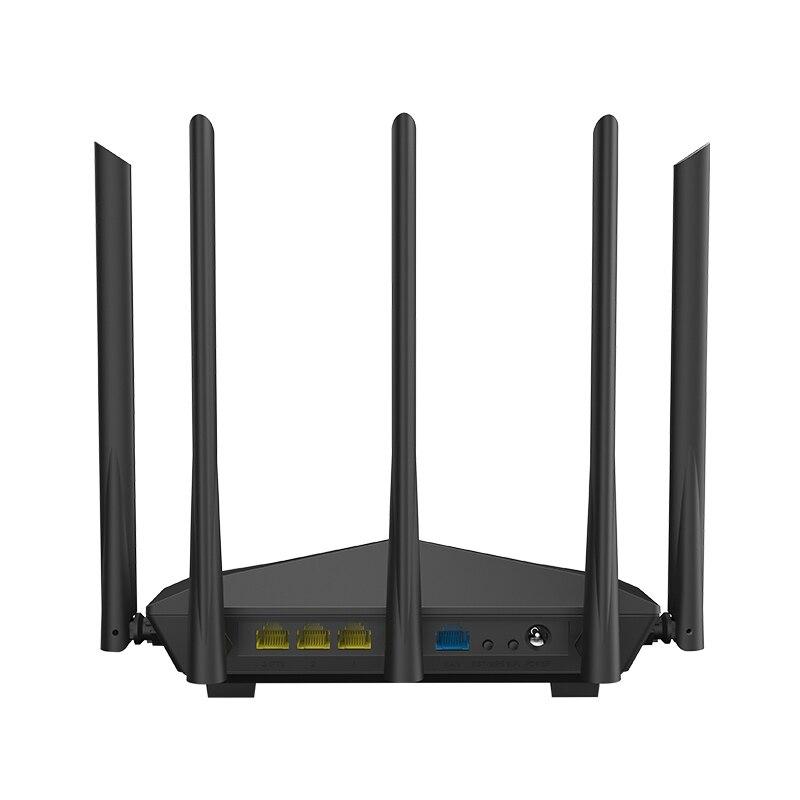 Routeur Wifi sans fil Tenda AC11 1200 Mbps double bande 2.4G/5G 1 WAN + 3 Ports LAN Gigabit antenne 5*6 dbi 802.11AC 1 GHz CPU 128 DDR3 - 2