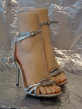 New size 38 real skin texture silicone fake feet male masturbation toys Foot Fetish Model