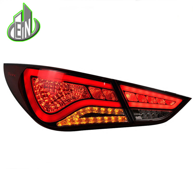For Hyundai Sonata 8th led taillights 2011-2014 parking led Sonata 8 tail lamps led rear lights led light guide car styling free shipping led tail lamps assy bm style light bar rear lamps tail lights fit for hyundai elantra 2012 2015