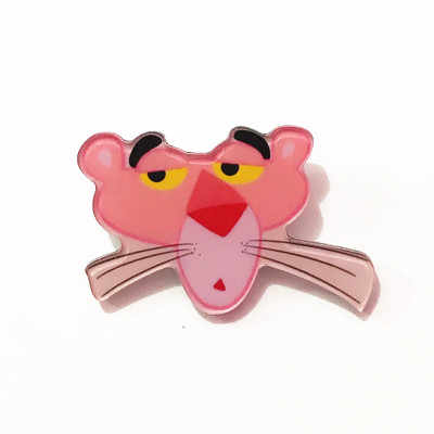 1 Pcs Kartun Nakal Lucu Pink Panther Hewan Acrylic Bros Lencana untuk Wanita Ransel Pakaian Dekorasi Ikon Bros Pin