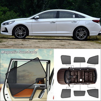 Car Side Windows Magnetic Sun Shade UV Protection Ray Blocking Mesh Visor For Hyundai Sonata 9th Curtain Accessories