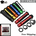 Motorcycle CNC Handle bar Grips 7/8'' 22MM Universal Street & Racing Barracuda  Handlebar Grips