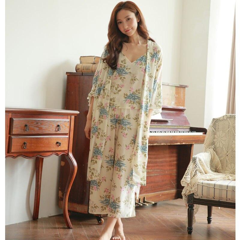 46b629f348 3 Pcs Set Women s Robe cotton Sleepwear ladies Nightgown Winter Princess Nightdress  Women s Winter Long Robe ladies Pijamas-in Pajama Sets from Women s ...