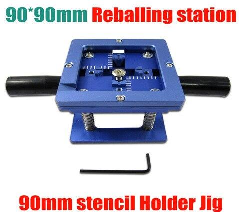90mm x 90mm stencil holder 90mm BGA reballing station jig with handgrip