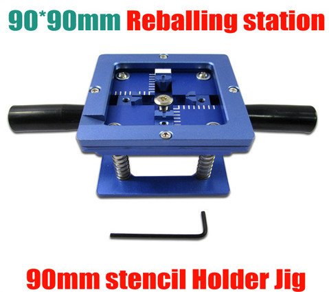 90mm x 90mm stencil holder 90mm BGA reballing station jig with handgrip freeshipping 100% new intel 82801hbm ic chipset with bga stencil 90mm nh82801hbm