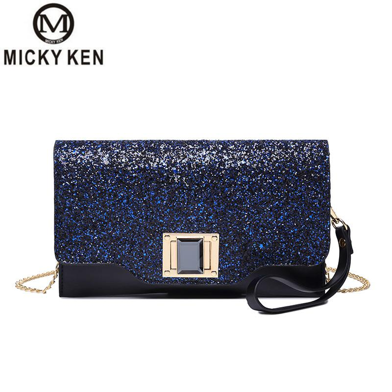 Clutch Fashion Side-Bag Shoulder-Diagonal-Handbag Sequins Small Korean-Version Women's
