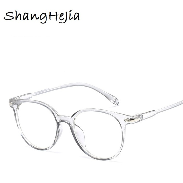 947578dd4b642 2018 Mulheres Da Moda Óculos de Armação Homens Rodada Do Vintage Lente  Clara Óculos de Armação