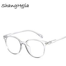 2018 moda damska okulary rama mężczyźni okulary rama Vintage okrągły Clear obiektyw okulary optyczne okularowe ramka tanie tanio Czerwona fasola Plastic Titanium Kobiet Stałe Ramki Akcesoria do okularów Mężczyzn Zakupy party Travel T Pokaż jazdy