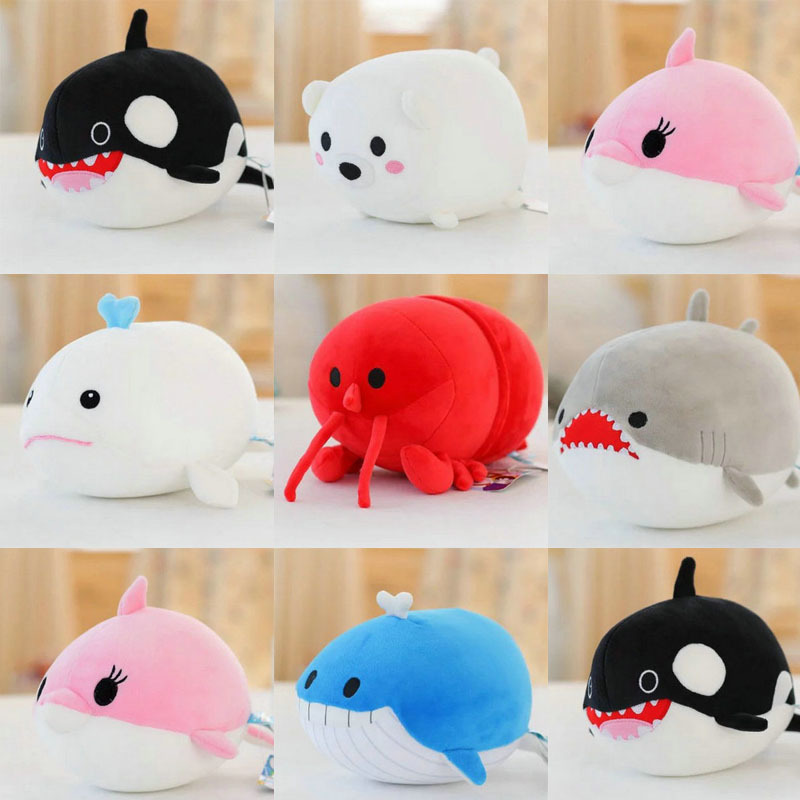 Cute 20CM Cartoon lobster/polar bear Plush Toys Stuffed Nanoparticle Doll Sea Animals White Whale Cloth Christmas Gift Kids Toys hot sale cute dolls 60cm oblong animals pillow panda stuffed nanoparticle elephant plush toys rabbit cushion birthday gift