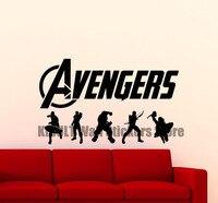 Avengers Wall Decal Superhero Artwork Iron Man Hulk Thor Comic Book Vinyl Sticker Logo Poster Boy
