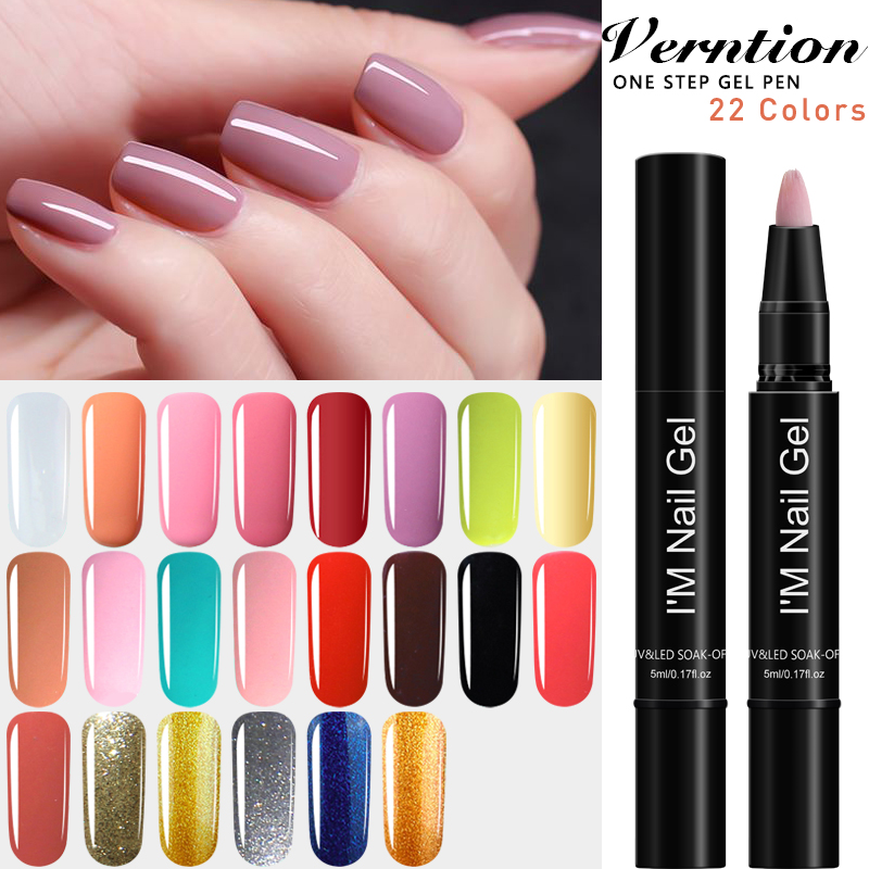 Us 0 49 30 Off Catuness Brush Crystal Handle Blush Olive Green Poly Gel One Step Gel Nail Pen Long Lasting Holographic Top Gel Nail Polish In Nail