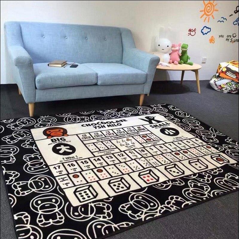 Cute Cartoon Monkey Poker Mat Gout Yoga Carpet Baby Climb Bedroom Living Room Floor MATS
