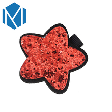 M MISM 1pc Beautiful Star Hairpins Children Hair Accessories Shiny Sequin Clip Lovely Bow Shape Headwear Hairgrip