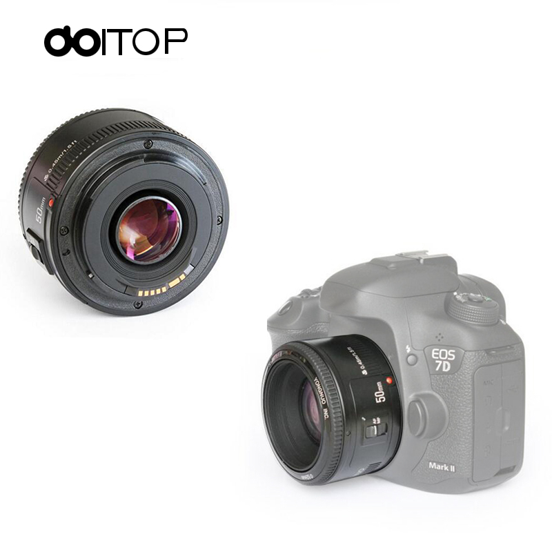 DOITOP for Canon YN 50mm F1.8 YN EF 50mm f/1.8 AF/MF Lens Large Aperture Auto Focus for Canon EOS DSLR Cameras C4 yongnuo yn 50mm lens fixed focus lens ef 50mm f 1 8 af mf lense large aperture auto focus lens for canon dslr camera pouch bag