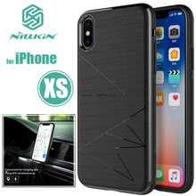 for iPhone XS X Nillkin Magic Case cover fit magnetic car holder Luxury Nature TPU for iPhone X XS Adsorption Nilkin Phone Case