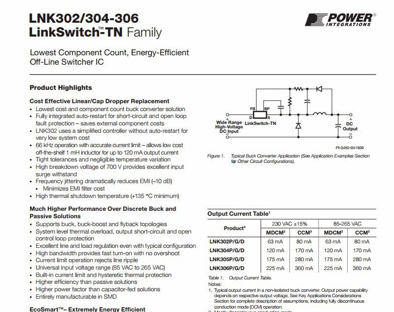 10pcs LNK306GN Lowest Component Count Energy Efficient SOP-7
