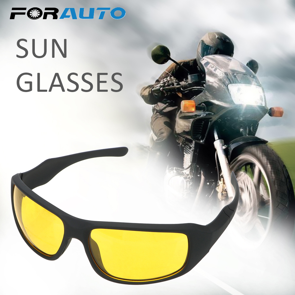 FORAUTO Night Vision Goggles Motorcycle Glasses Wind Resistant  For Men And Women Outdoor Sports Riding Night Driving Glasses