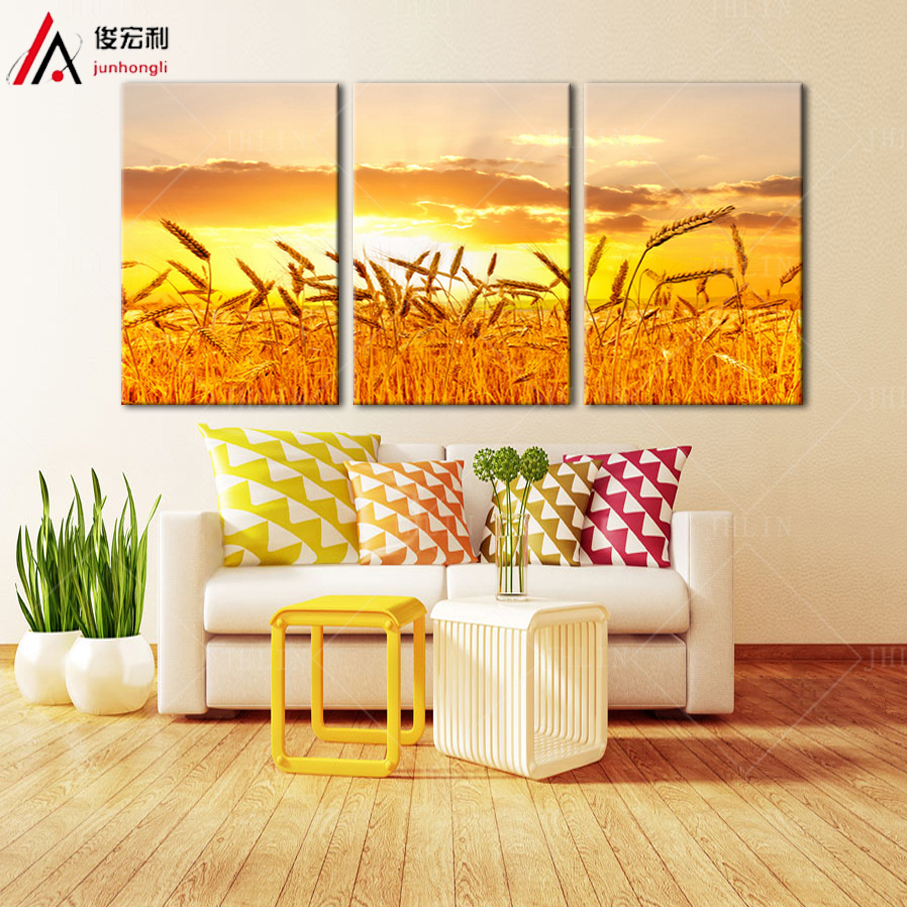 Oil Landscape Painting Impasto Palette Knife Painting Winter Wheat ...