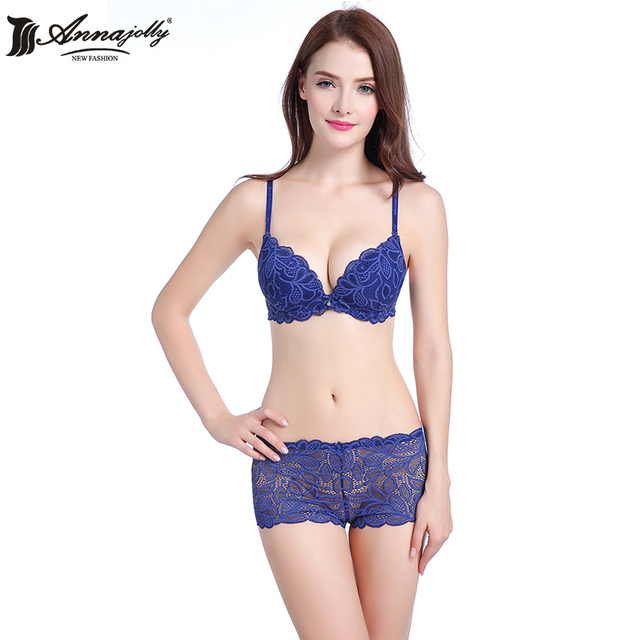082f2a890314c Aliexpress.com   Buy Annajolly Women Sexy Bra Sets Top Emborisery .