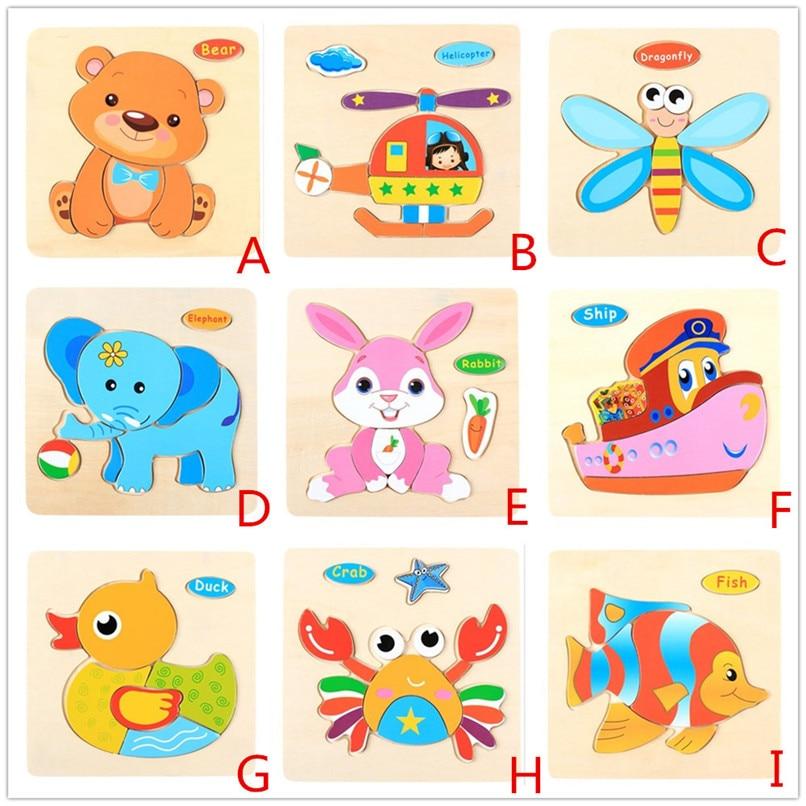 Holz Tier Puzzle Spielzeug Kinder Jungen Mädchen Früherziehung Entwicklung Und Learning Schulung Puzzles Spielzeug Großhandel #45je06 # F Buy One Give One Sammeln & Seltenes