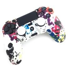 Wysokiej jakości antypoślizgowe wielokolorowe osłony silikonowe 2 czapki joysticka na 4 AUG 30A kontrolera PS4
