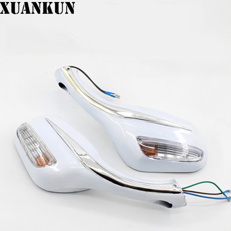 XUANKUN Scooter ZY125 Reflector Rearview Mirror with Lamp Rearview Mirror of Motorcycle Rearview Mirror|scooter mirror -