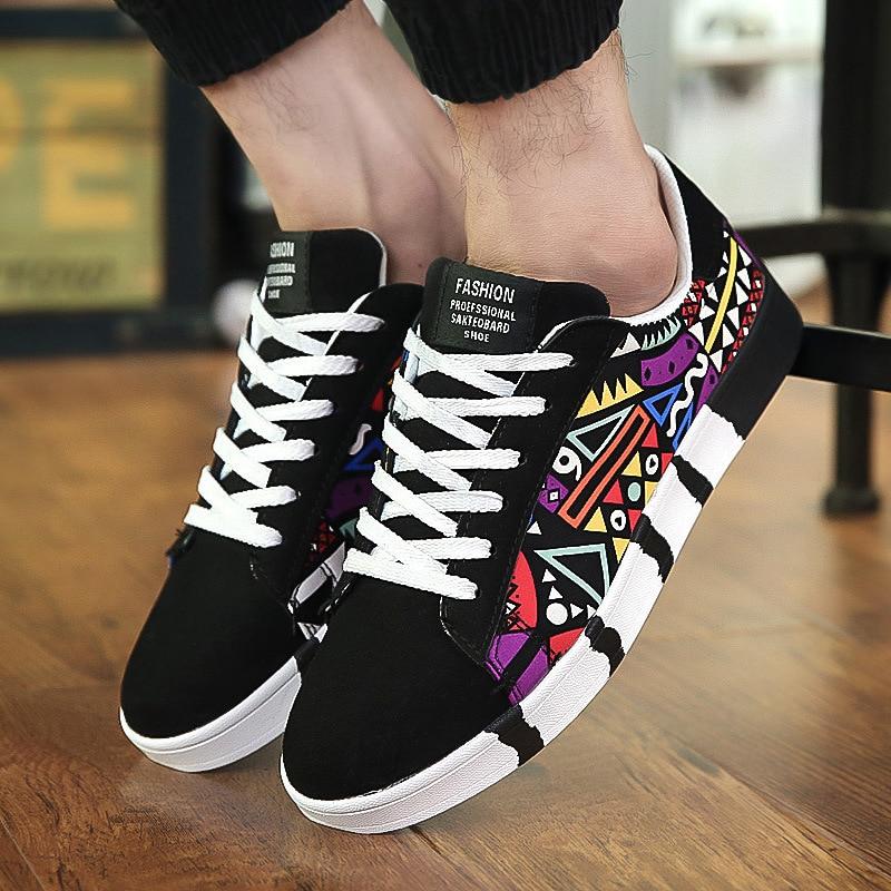Men Casual Canvas Shoes Fashion Print Sneakers Summer Trainers Leisure Shoes Men's Flats Slip Shoes Chaussures pour hommes 3